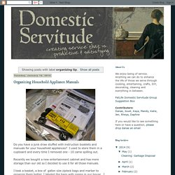 Domestic Servitude: organizing tip