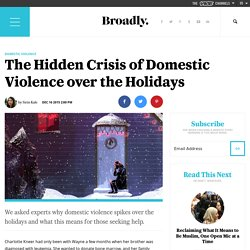 The Hidden Crisis of Domestic Violence over the Holidays
