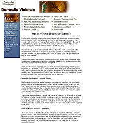 Domestic Violence Main Page