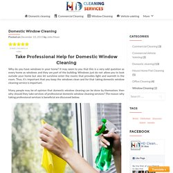 Domestic Window Cleaning – HD Clean