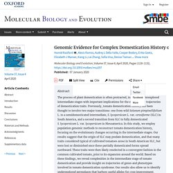 Genomic Evidence for Complex Domestication History of the Cultivated Tomato in Latin America