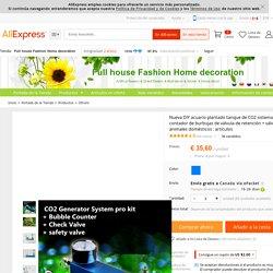 Comprar Nueva DIY acuario plantado tanque de CO2 sistema de generador pro kit contador de burbujas de válvula de retención + válvula de seguridad animales domésticos : artículos de válvula de llave fiable proveedores en Full house Fashion