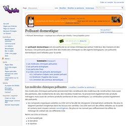 Polluant domestique - Vikidia, l'encyclopédie des 8-13 ans