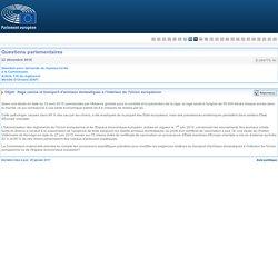 PARLEMENT EUROPEEN - Réponse à question E-009770-16 Rage canine et transport d'animaux domestiques à l'intérieur de l'Union européenne