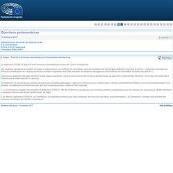 PARLEMENT EUROPEEN - Réponse à question E-006555/2017 Transit d'animaux domestiques et maladies infectieuses