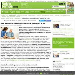 Aide à domicile: des départements ne jouent pas le jeu - 17/03/17