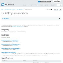 DOMImplementation - Web API interfaces