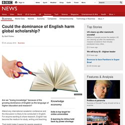 Does the rise of English mean losing knowledge?