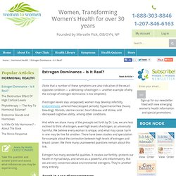 Women to Women — Transforming women's health — naturally - Part 4
