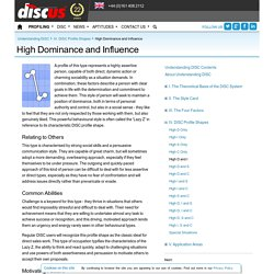 High Dominance and Influence - IV. DISC Profile Shapes - Understanding DISC