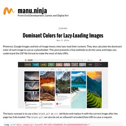 Dominant Colors for Lazy-Loading Images