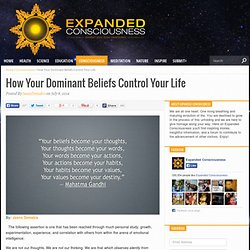 How Your Dominant Beliefs Control Your Life