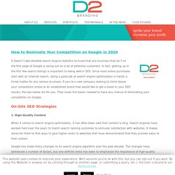 How to Dominate Your Competition on Google in 2020 - D2 Branding Tulsa