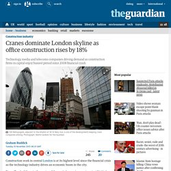 Cranes dominate London skyline as office construction rises by 18%