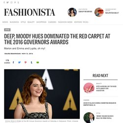 Deep, Moody Hues Dominated the Red Carpet at the 2016 Governors Awards