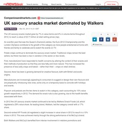 UK savoury snacks market dominated by Walkers - Companiesandmarkets.com