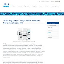 Dominating AFM Disc Storage Market: Worldwide Market Share Reaches 90%