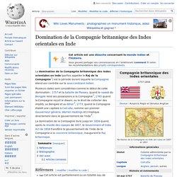 Domination de la Compagnie britannique des Indes orientales en Inde
