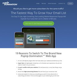PopUp Domination | How To Explode Your Mailing List