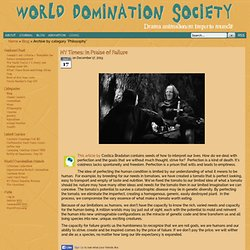 World Domination Society! - Philosophy