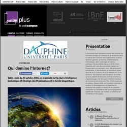 Qui domine l'Internet? / PARIS DAUPHINE