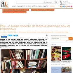 Paris : un sixième dimanche de fermeture dominicale pour les bibliothèques