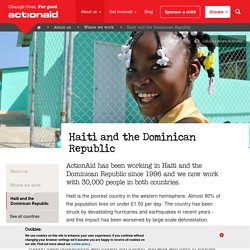 Haiti and the Dominican Republic :: ActionAid UK