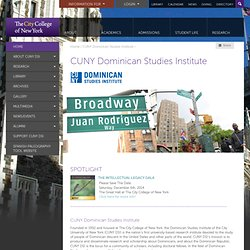 El City College de Nueva York :: Instituto de Estudios Dominicanos