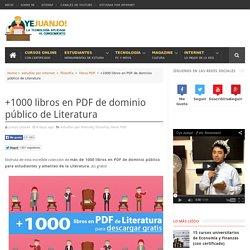 +1000 libros en PDF de dominio público de Literatura