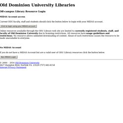 Old Dominion University Libraries - Remote login