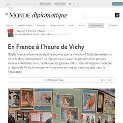 En France à l'heure de Vichy, par Dominique Vidal (Le Monde diplomatique, septembre 2014)
