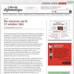Du nouveau sur le 17octobre1961, par Dominique Vidal