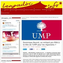 Dominique Reynié, un militant pro PMA à la tête de l'UMP pour les régionales ?
