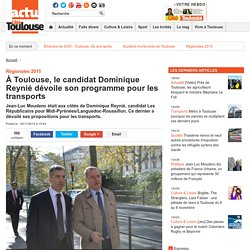 À Toulouse, le candidat Dominique Reynié dévoile son programme pour les transports