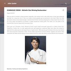 DOMINIQUE CRENN - Michelin Star Winning Restaurateur