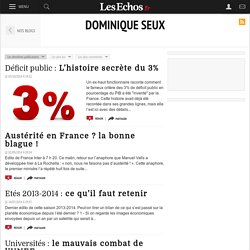 Dominique Seux - Blogs - Les Echos