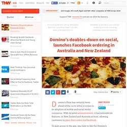 Domino's Pizza Introduces Facebook Orders
