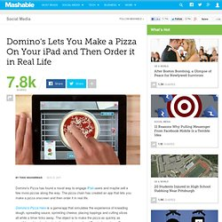 Domino's Lets You Make a Pizza On Your iPad and Then Order it in Real Life