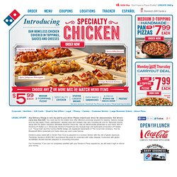 Domino's Pizza, Order Pizza Online for Delivery - Dominos.com