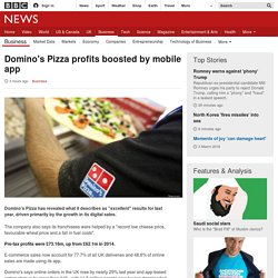 Domino's Pizza profits boosted by mobile app