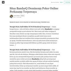 Situs BandarQ Domino99 Poker Online Perkasa99 Terpercaya