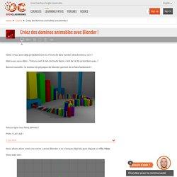 Créez des dominos animables avec Blender !