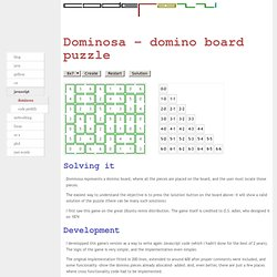 Dominosa - simple Javascript game