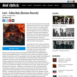 Lord – Fallen Idols (Dominus Records)