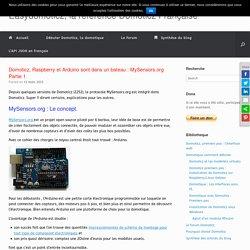 Domoticz, Raspberry et Arduino sont dans un bateau : MySensors.org Partie 1