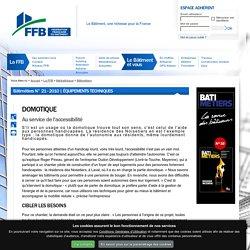 Domotique : Au service de l'accessibilité : FFB