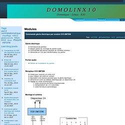 Commande gâche électrique par module X10 UM7206 : Modules