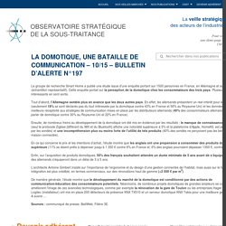 La domotique, une bataille de communication – domotique – 10/15 – Bulletin d'alerte – OSST