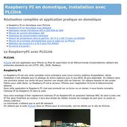 Domotique : Raspberry PI commande du GPIO avec un iPhone et PLCLink