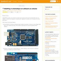 WebPlug: la domotique en utilisant un arduino